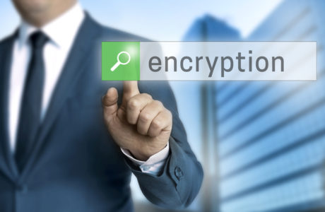 encryption browser is operated by businessman.